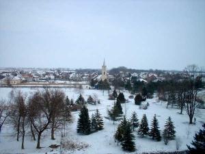 Панорама зими Глогоњ