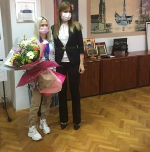 Пријем за џудисткињу Андреу Стојадинов