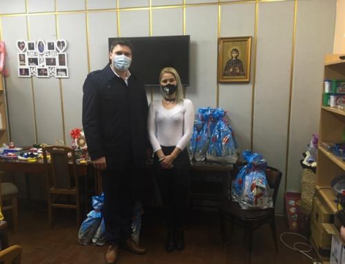 Градоначелник Панчева поделио пакетиће Удружењу МНРО